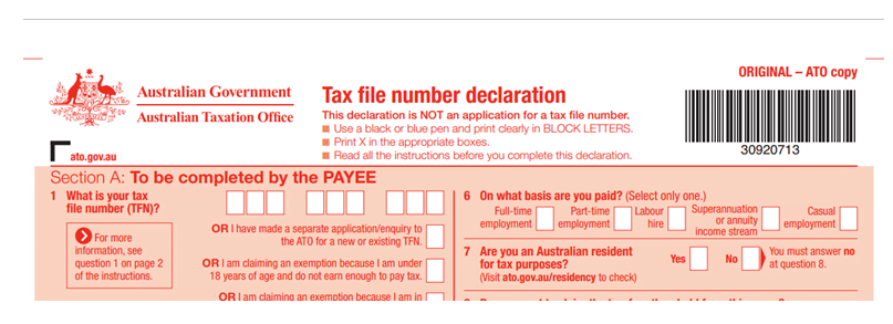 how to open a tax file number in australia