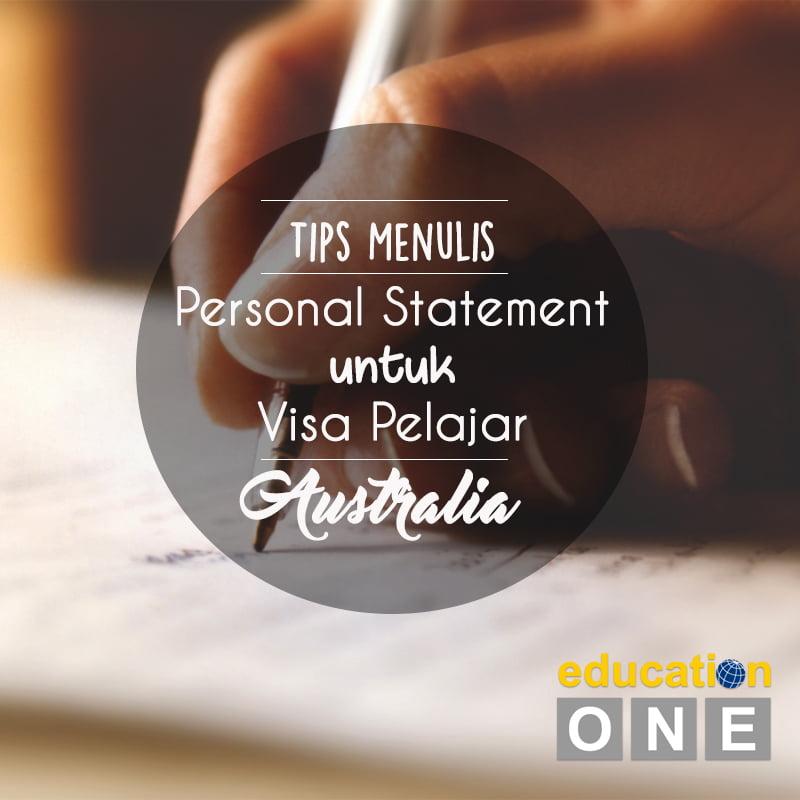 Tips Menulis Personal Statement untuk Visa Pelajar Australia